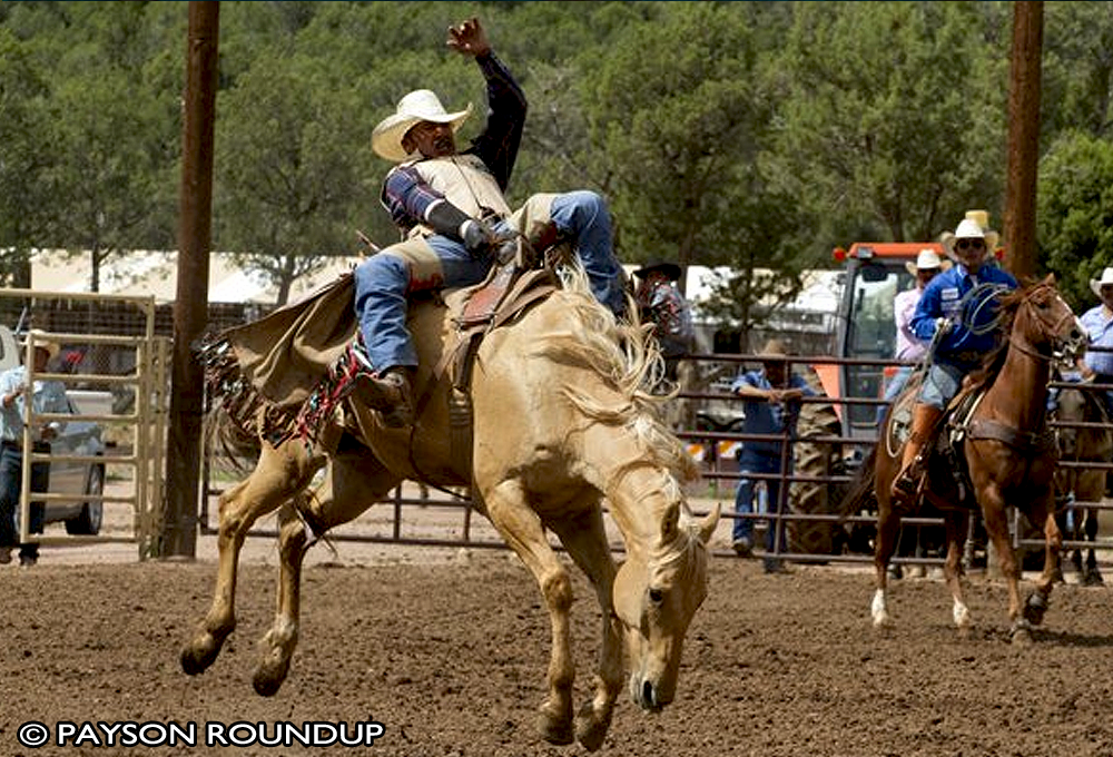 From the Payson Roundup, a picture of Special Events. A rodeo